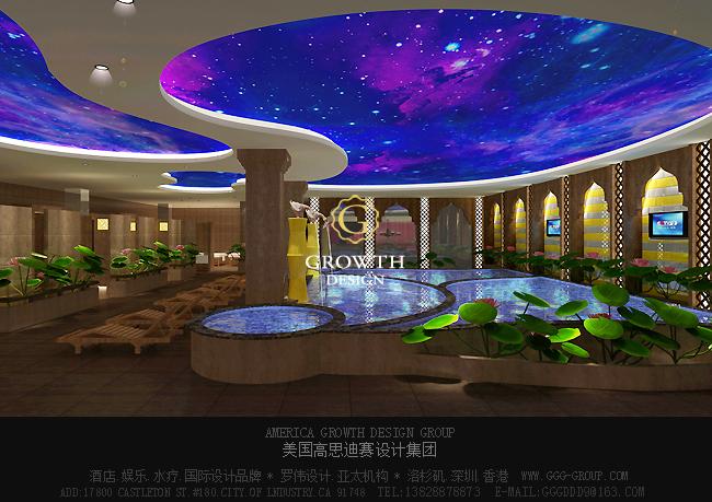 天津泰达中心国际水疗设计温泉区