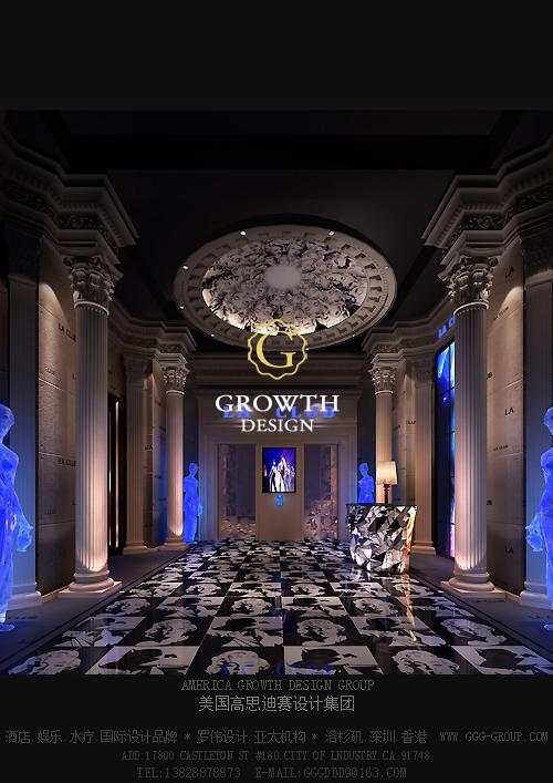酒吧大厅欧式风格装修设计效果图