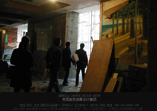 深圳鸿泰洋国际水会设计中著名设计师现场考察